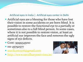 Artificial eyes in Delhi, artificial eyes in India, artifici