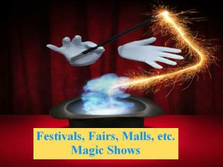 Festivals, Fairs, Malls, etc. Magic Shows