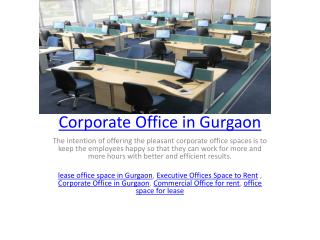 Corporate Office in Gurgaon