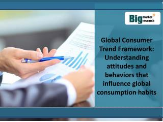 Global Consumer Trend Framework: Understanding attitudes and