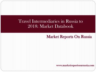 Travel Intermediaries in Russia to 2018: Market Databook