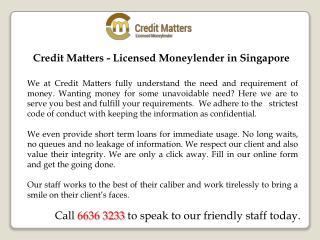 Moneylender Singapore