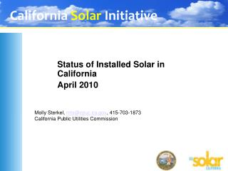 Molly Sterkel, mtscpuc, 415-703-1873 California Public Utilities Commission