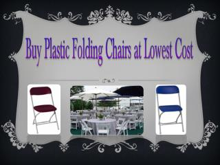Buy Plastic Folding Chairs at Lowest Cost