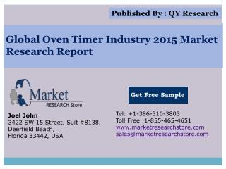 Global Oven Timer Industry 2015 Market Analysis Survey Resea