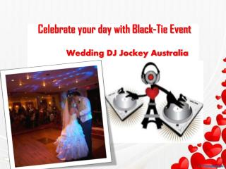 Wedding DJ Jockey Australia