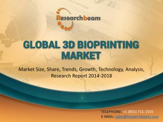 Global 3D Bioprinting Market Size, Share, Trends, Growth