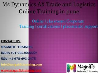 msdynamics ax trade and logistics online training in pune