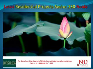 Residential Apartments Sector 150 Noida @ 9999999238