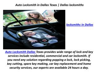 Auto Locksmith in Dallas Texas | Dallas locksmiths