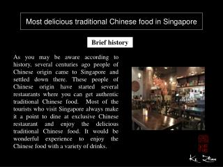Most delicious traditional Chinese food in Singapore