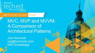 MVC, MVP and MVVM:  A Comparison of  Architectural Patterns