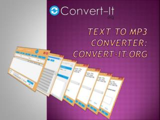 Text to MP3 Converter Convert-it.org