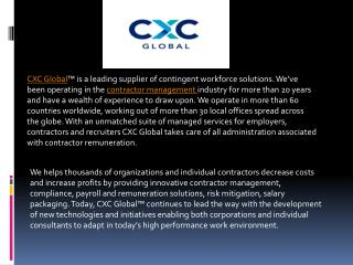 Recruitment Processing Outsourcing Provider: Cxcglobal