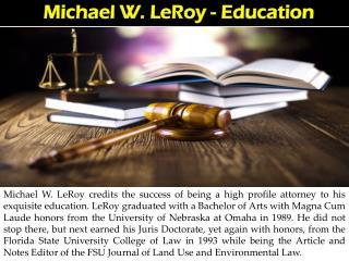 Michael W. LeRoy - Education