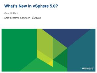 What s New in vSphere 5.0