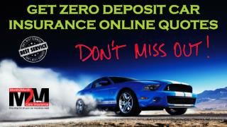 Car Insurance With Zero Deposit To Pay Up Front
