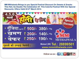 Popular Sweet Shop in Malad Offers Holi Special Discount