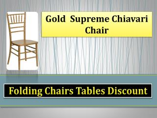 Gold  Supreme Chiavari Chair