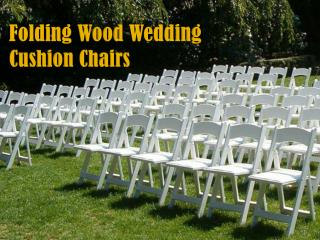 Folding Wood Wedding Cushion Chairs