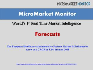 The European Healthcare Administrative Systems Market Is Est