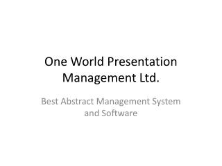 Abstract Management System and Software