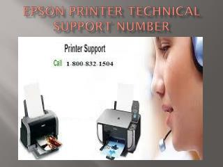 Epson Printer Technical Support Number 1-800-832-1504