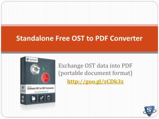 Exchange OST email to PDF- Free OST to PDF