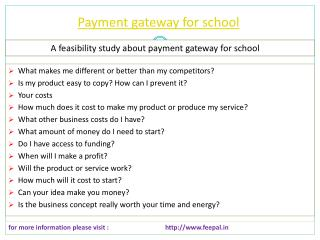 Every website of payment gateway for school you can visit