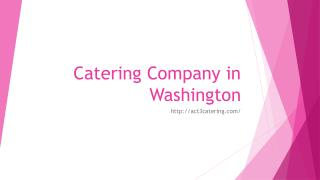 Catering Company in Washington