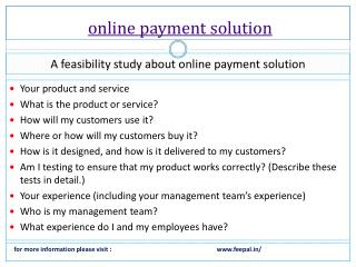 The best portal of online payment solution
