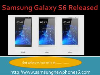 Samsung Galaxy S6 Released