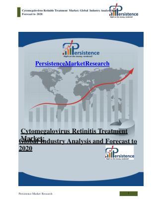 Cytomegalovirus Retinitis Treatment Market: Global Industry