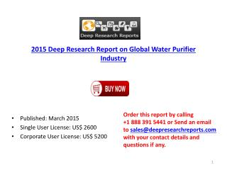 Water Purifier Industry Global Forecasts Report Overview 201