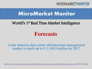 Latin America data center infrastructure management market i