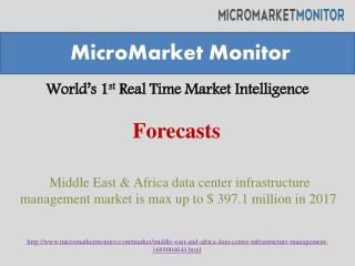 Middle East & Africa data center infrastructure management m