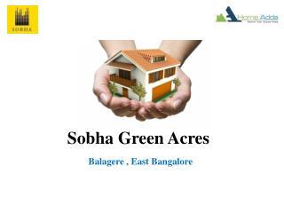 Sobha Green Acres