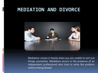 Mediation and Divorce