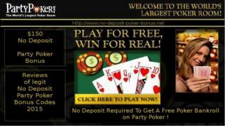Play for Free with a Party Poker No Deposit Bonus