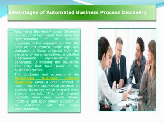 Automated Business Process Discovery