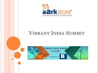 Conference Aarkstore - Vibrant India Summit