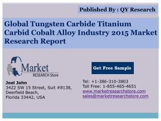Global Tungsten Carbide-Titanium Carbid-Cobalt Alloy Industr