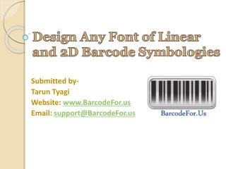 Design Linear and 2D Barcode Labels using Barcode Maker Tool