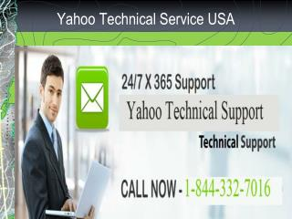 Yahoo Toll Free Number 1-844-332-7016 for Technical Support