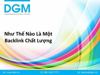 Nhu the nao la mot backlink chat luong
