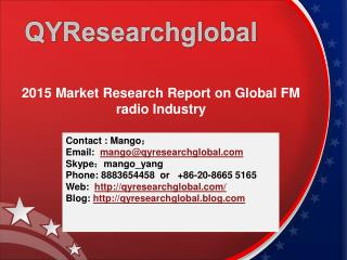 2015 Market Research Report on Global FM radio Industry
