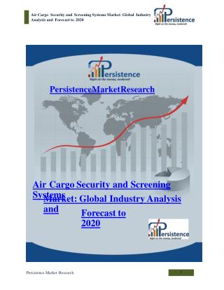 Air Cargo Security and Screening Systems Market: Global Indu