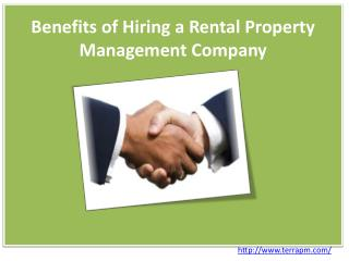 Benefits of Hiring a Rental Property Management Company