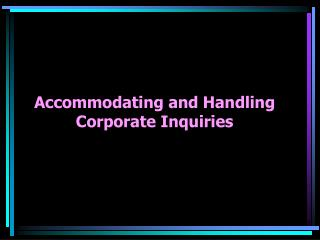 Accomodation Handling