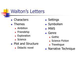 Walton s Letters